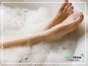 banheira com agua quente