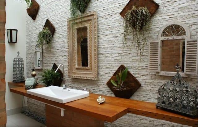 textura para banheiro rustico