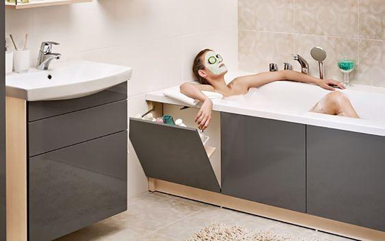 armario na banheira