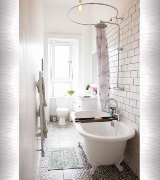 banheira classica espaço pequeno