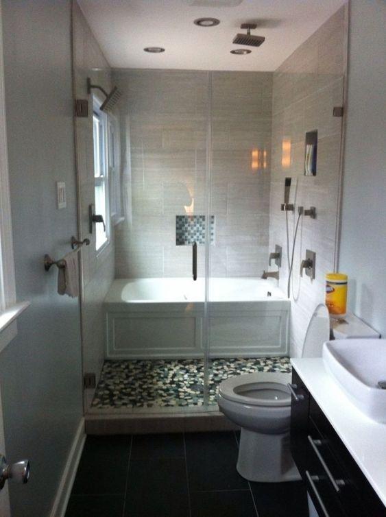 banheira em espaço pequeno