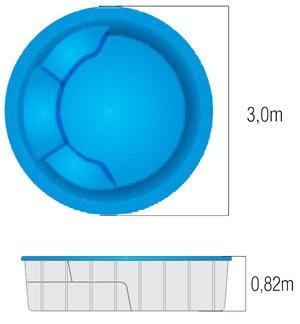 Banheira spa banheiras ofur s jacuzzi piscina de fibra ilha redonda - Piscina redonda fibra ...